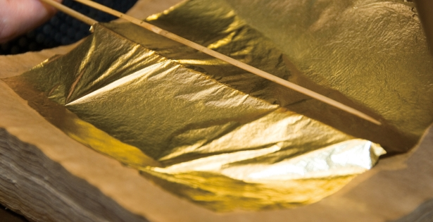 The Japanese gold leaf is the thinnest one the world