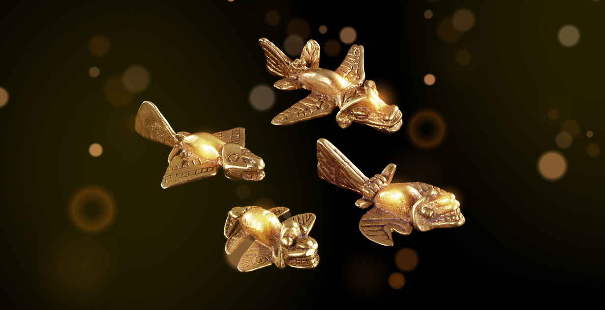 """Golden """"airplanes"""" of the Indians"""