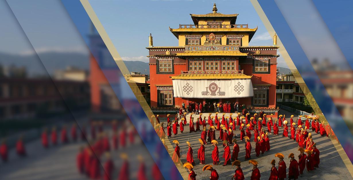 The ritual of the Shechen Monastery