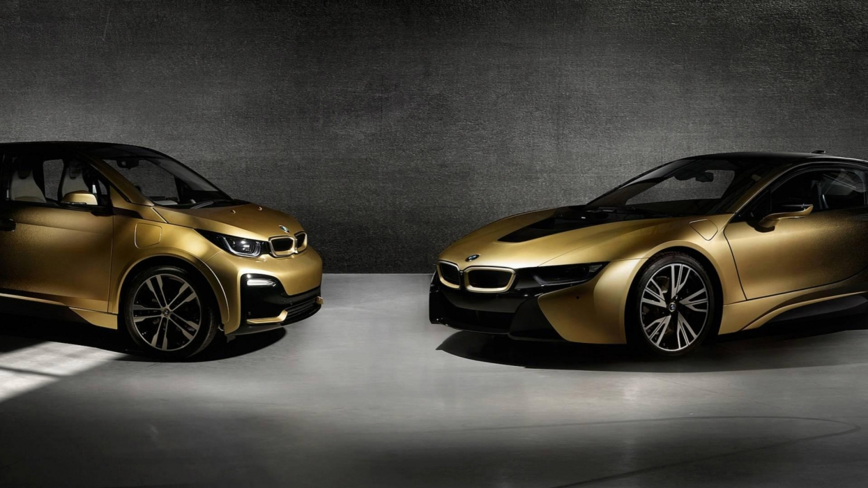 """The Czechs """"bathed"""" BMW in gold"""