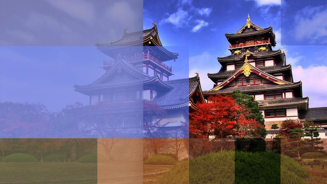 El castillo japonés Nijō